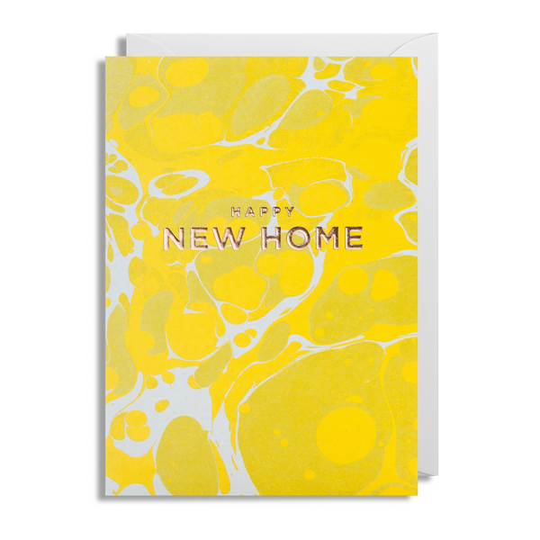Marbled New Home Greeting Card - Lagom Design by Postco