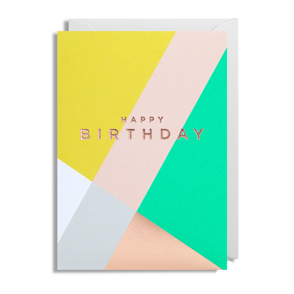 Graphic Happy Birthday Greeting Card - Lagom Design by Postco