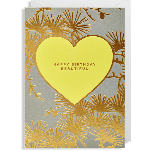 Beautiful Heart Greeting Card - Lagom Design by Postco