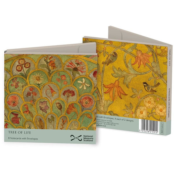 Tree of Life Folded Notecards - Museums And Galleries (Pack of 8)