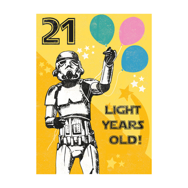 21 Light Years Greeting Card - Rocket 68 Stormtrooper