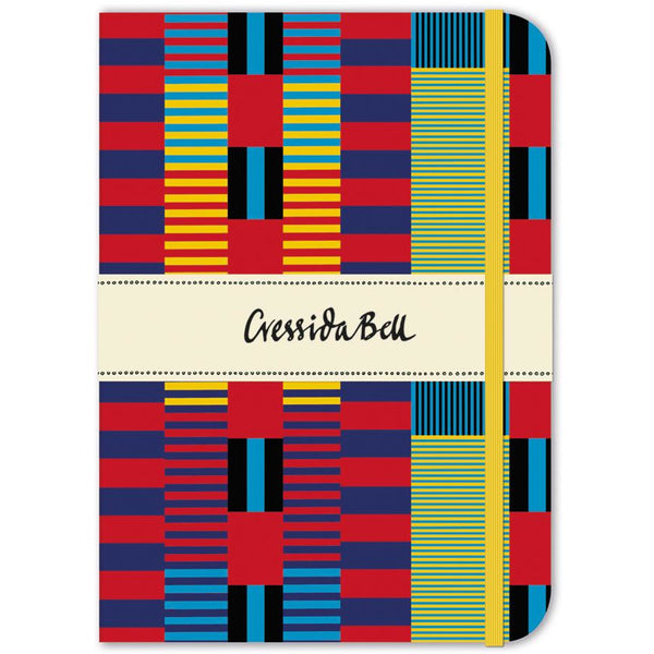 Indian Stripe Elasticated Notebook - Museums And Galleries by Cressida Bell