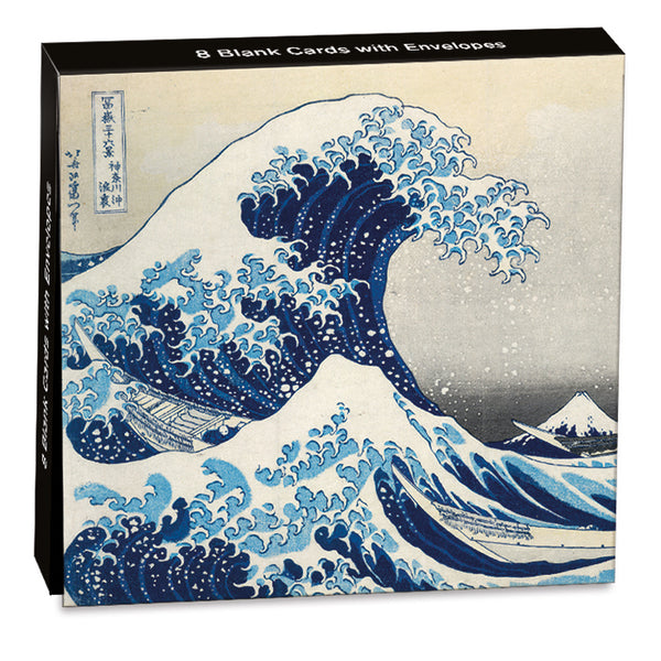 The Great Wave Folded Notecards - Museums And Galleries (Pack of 8)