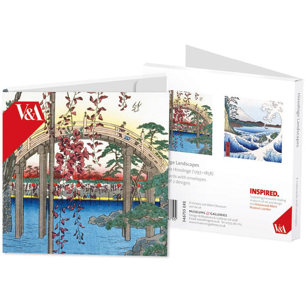 Hiroshige Landscapes Folded Notecards - Museums And Galleries (Pack of 8)