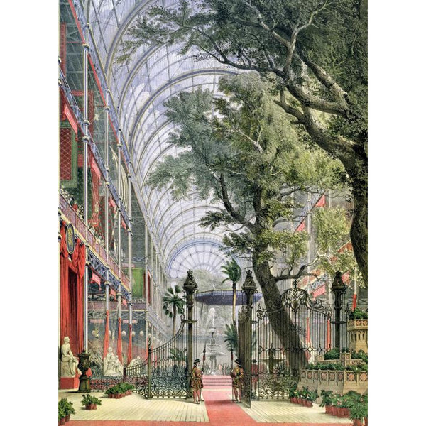 Interior View of the Crystal Palace Greeting Card - Museums And Galleries by Joseph Nash