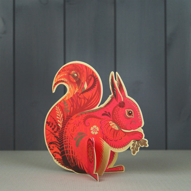 Cyril Squirrel Die-Cut Card Art Angels by Sarah Young
