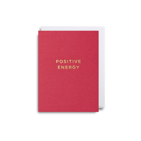 Positive Energy Small Greeting Card - Lagom Design by Cherished