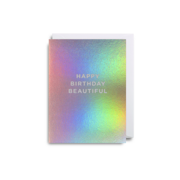 Beautiful Birthday Small Greeting Card - Lagom Design by Cherished