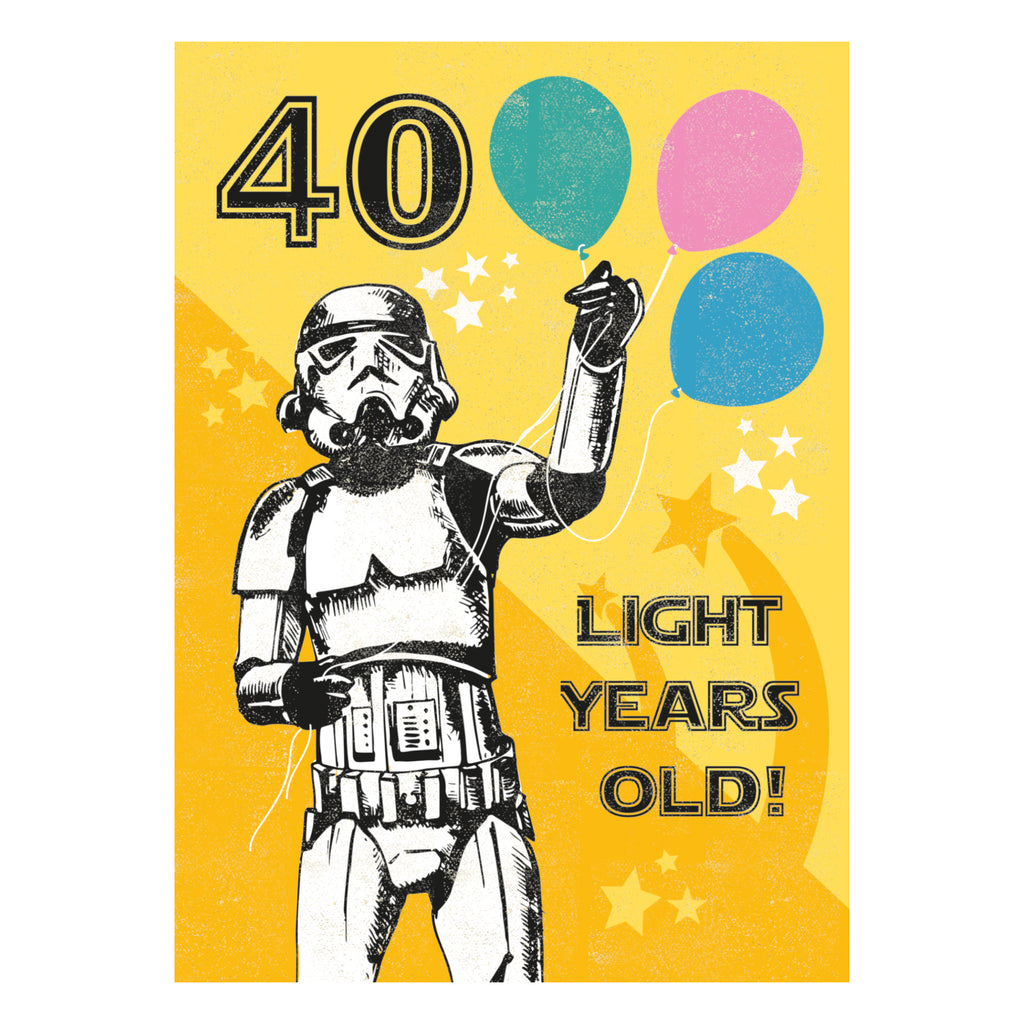 40 Light Years Greeting Card - Rocket 68 Stormtrooper
