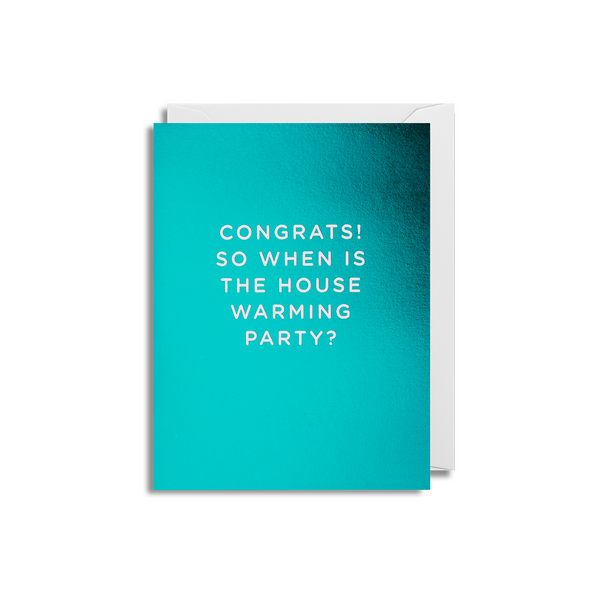 Congrats New Home Small Greeting Card - Lagom Design by Cherished