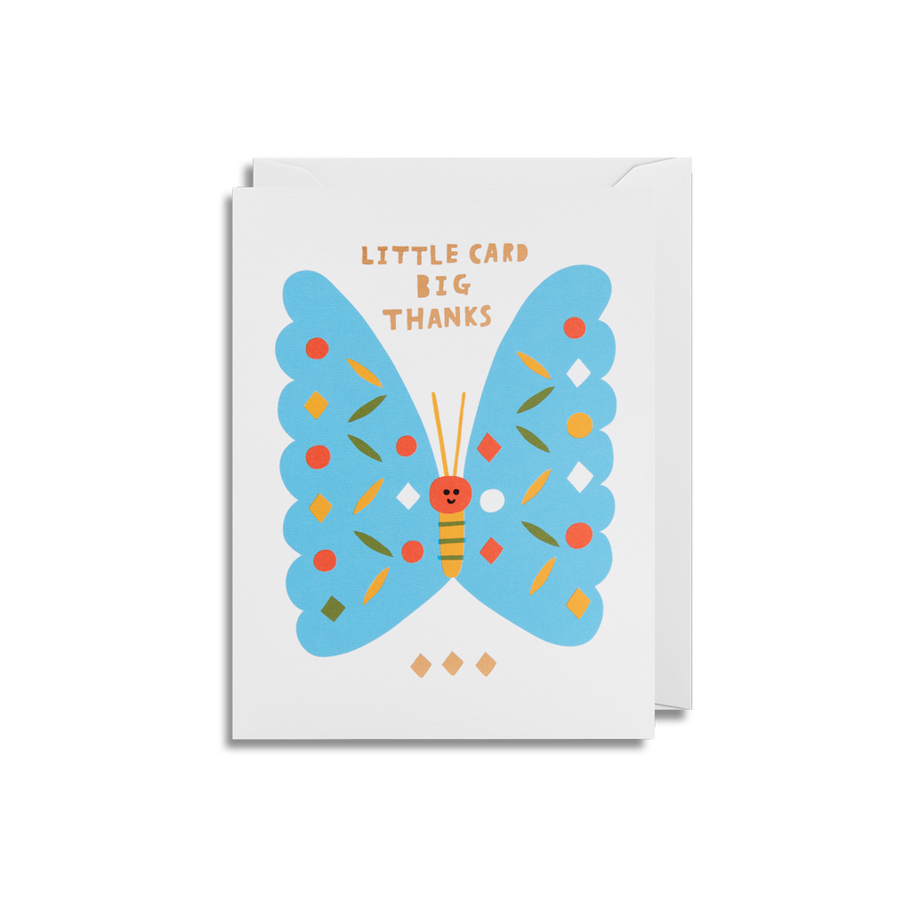 Butterfly Big Thanks Small Greeting Card - Lagom Design by Cherished