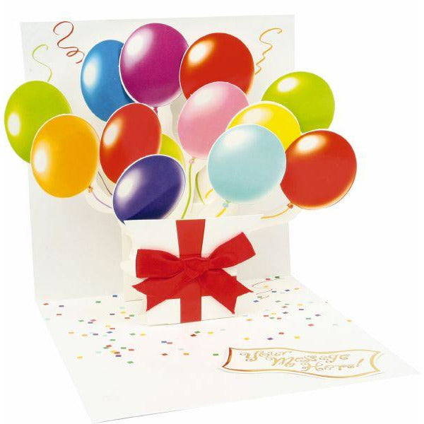 Balloons Pop-up Greeting Card - Up With Paper
