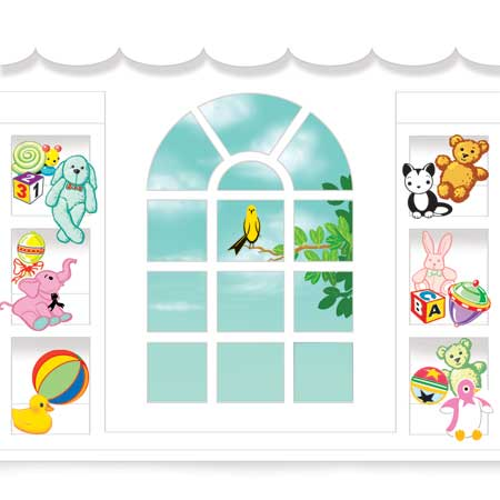 Baby Crib Greeting Card - Up With Paper