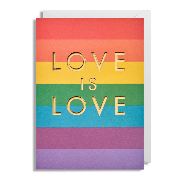 Love is Love Greeting Card - Lagom Design by Postco