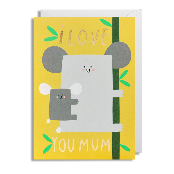 Koala I Love You Mum Greeting Card - Lagom Design by Susie Hammer