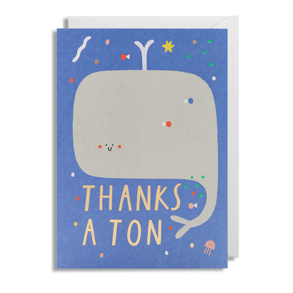 Thanks a Ton Greeting Card - Lagom Design by Susie Hammer