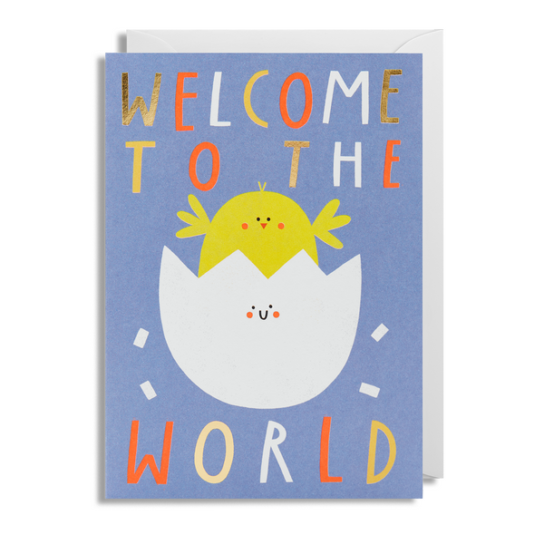 Welcome To The World Chick Greeting Card - Lagom Design by Susie Hammer