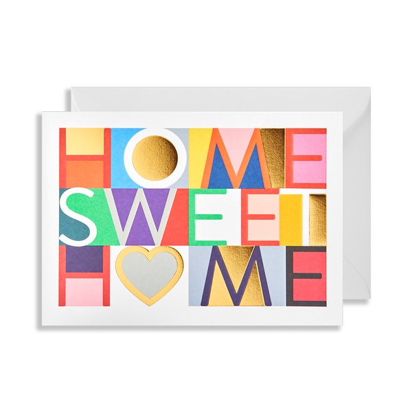 Home Sweet Home Greeting Card - Lagom Design by Postco