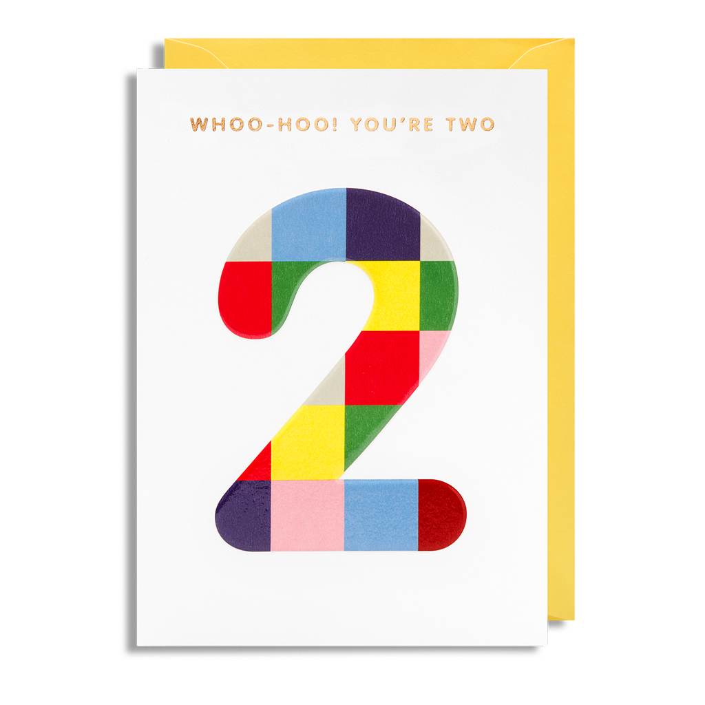 Age 2 Greeting Card - Lagom Design by Magic Numbers
