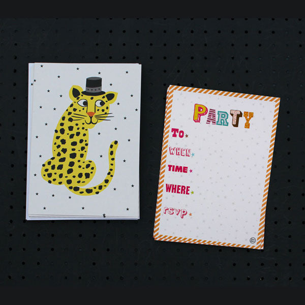 Leopard Party Invitation Cards - Petra Boase (Pack Of 12)