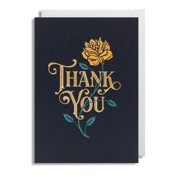Thank You Flower Greeting Card - Lagom Design by Tobias Saul