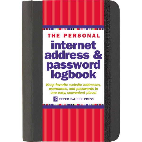 Internet Address And Password Logbook - Peter Pauper Press