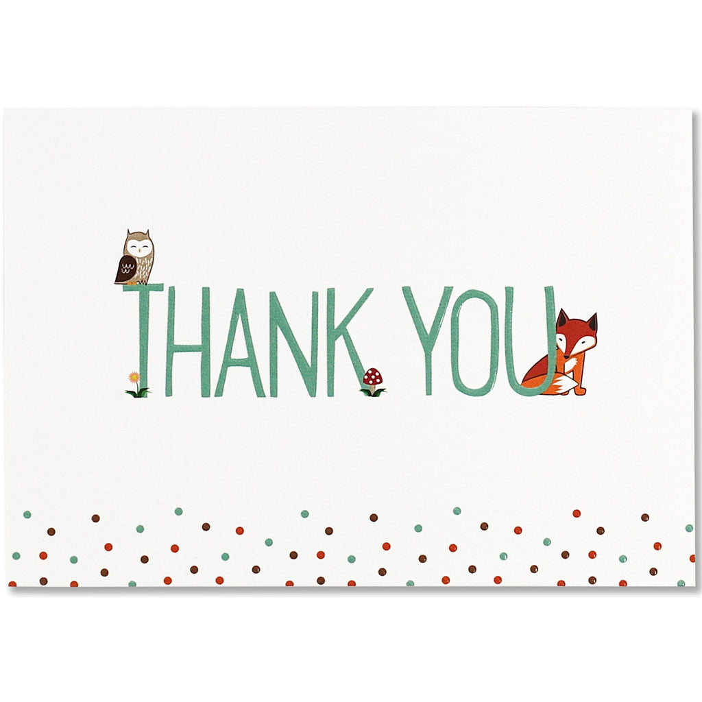 Woodland Friends Thank You Folded Note Cards - Peter Pauper Press  (Pack of 14)