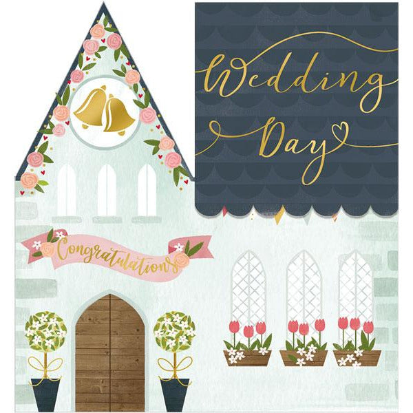 Wedding Day 3D Congratulations Card- The Art File