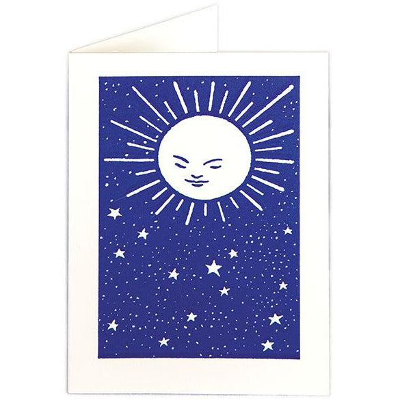 Moon and Stars Folded Note Cards - Archivist Press (Pack of Five)