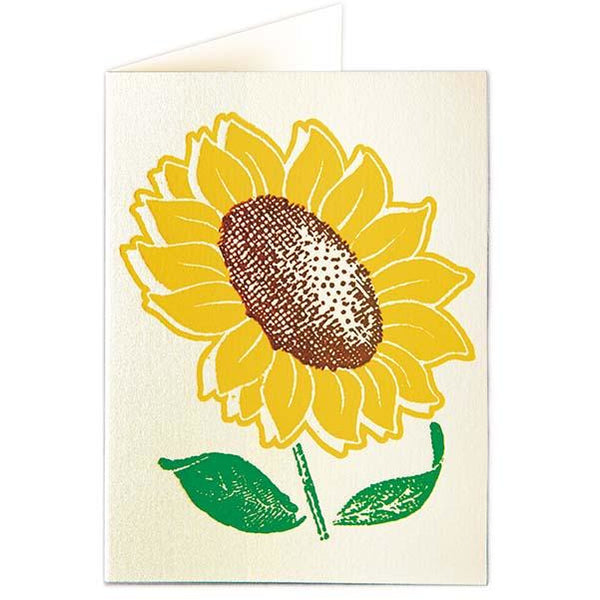 Sunflower Folded Note Cards - (Pack of Five)