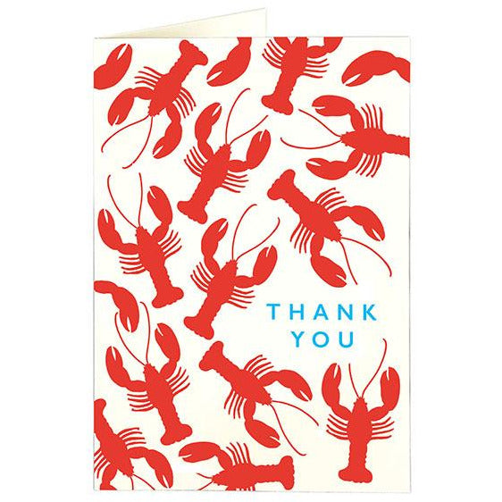 Lobster Folded Note Cards -  Archivist Press (Pack of Five)