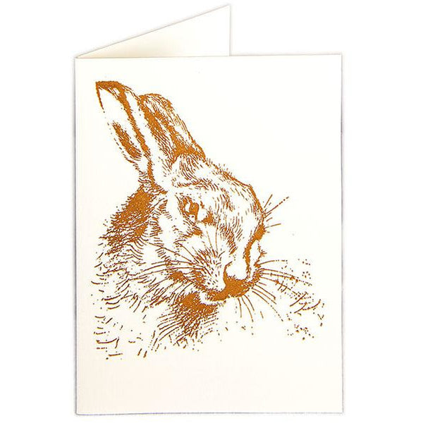 Hare Folded Note Cards - Archivist Press (Pack of Five)