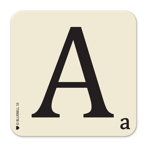 A' Letter Scrabble Coaster - Bluebell 33