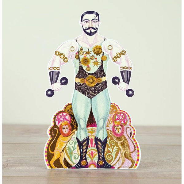 Alexander Strongman Die-Cut Card -  Art Angels by Sarah Young