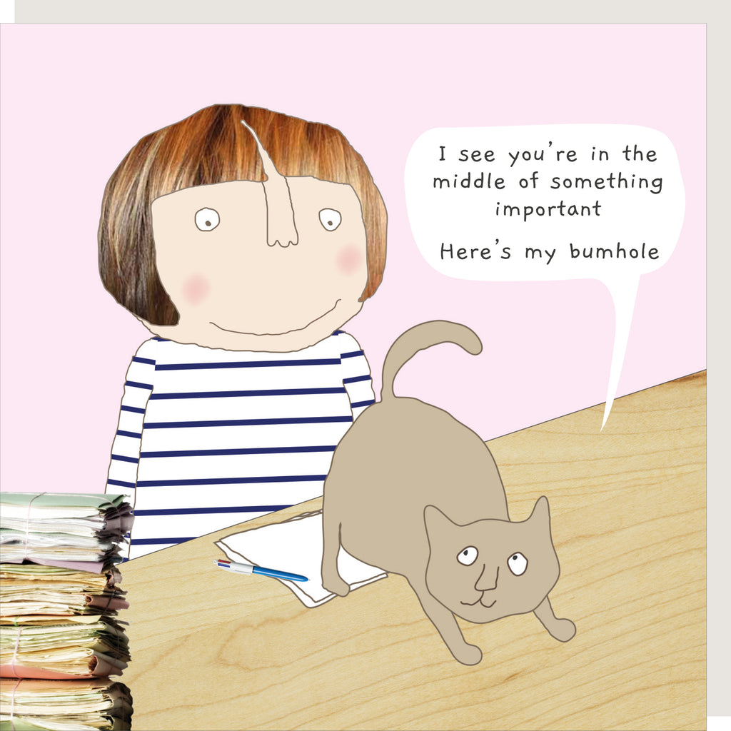 Cat Bum Greeting Card - Rosie Made A Thing