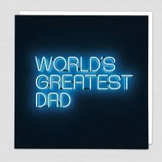 World's Greatest Dad Greeting Card - Redback Cards