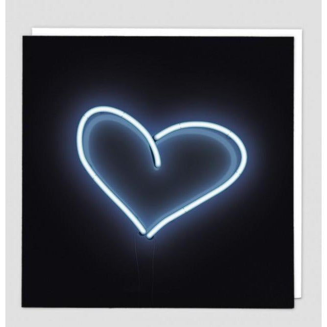 Neon Heart Greeting Card - Redback Cards