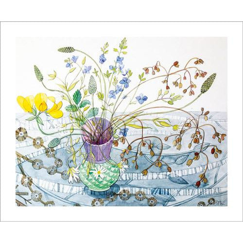 Ballindalloch Pot Watercolour Drawing Card - Art Angels by Angie Lewin