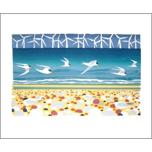 Big Turns and Little Terns Screenprint by Carry Akroyd