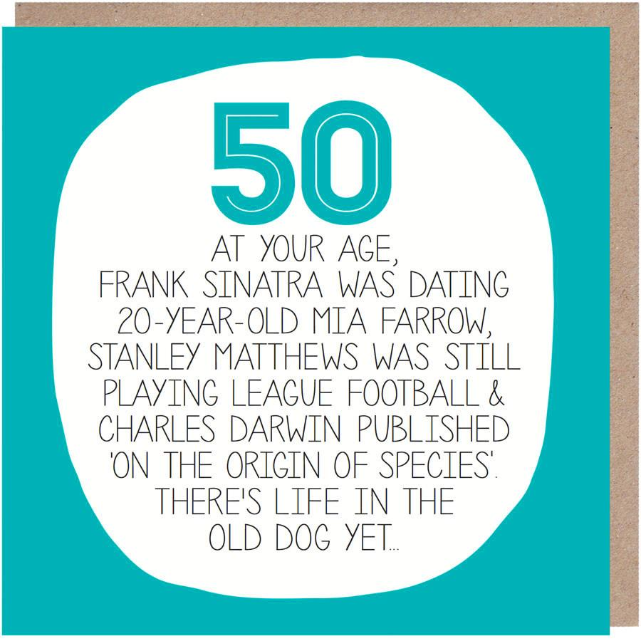 50th - By Your Age Greeting Card - Paper Plane Designs