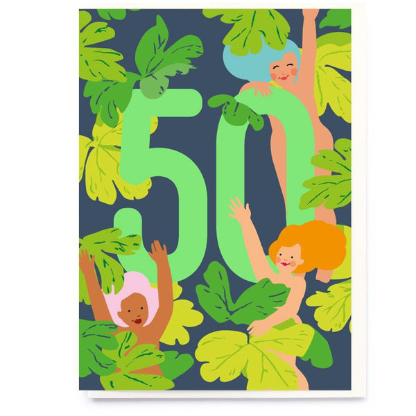 50th Neon Birthday Greeting Card - Noi Publishing