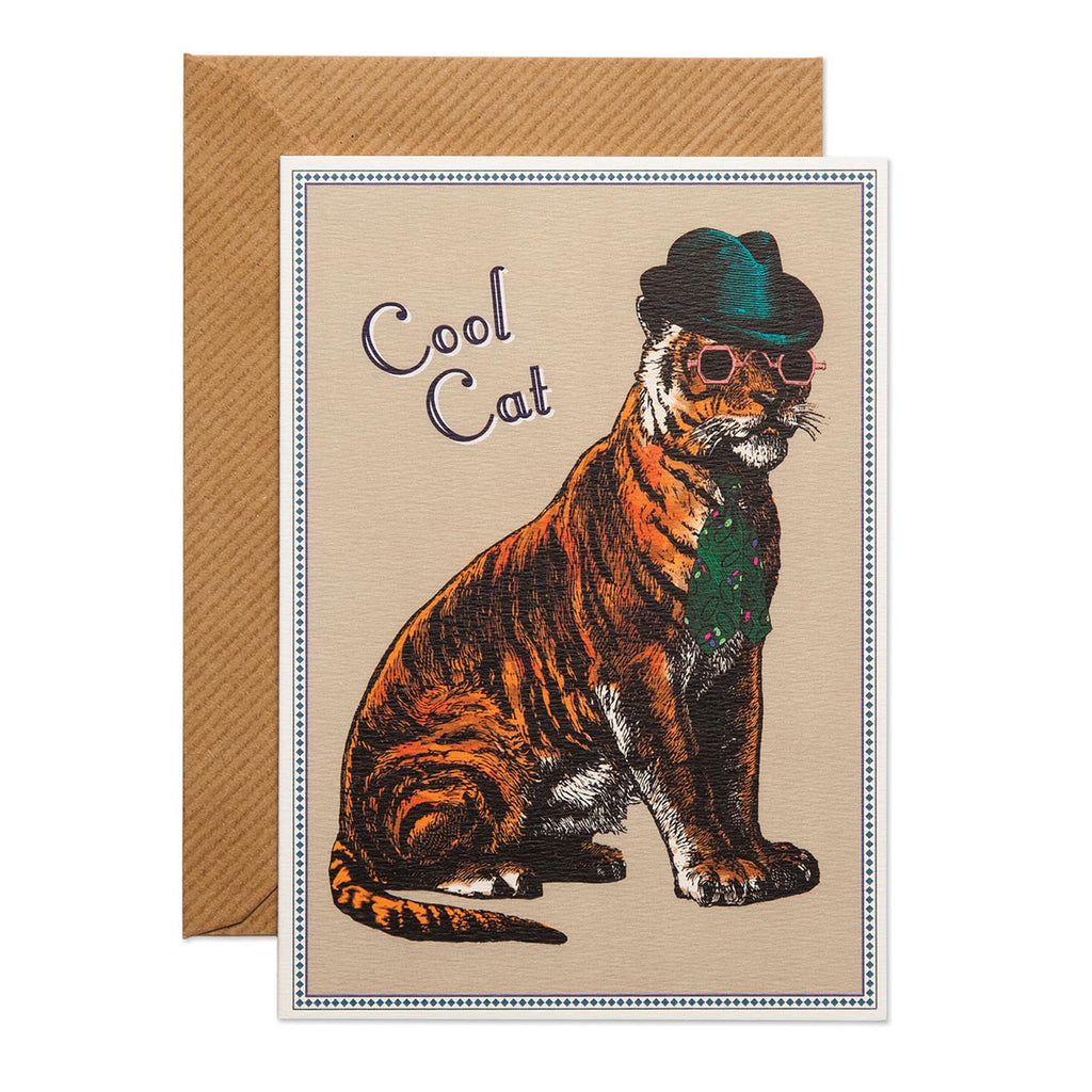 Cool Cat Greeting Card - Chase And Wonder