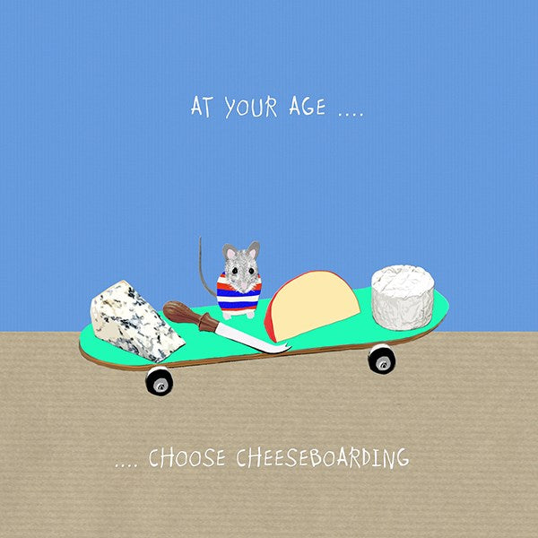Cheeseboarding Greeting Card - Sally Scaffardi