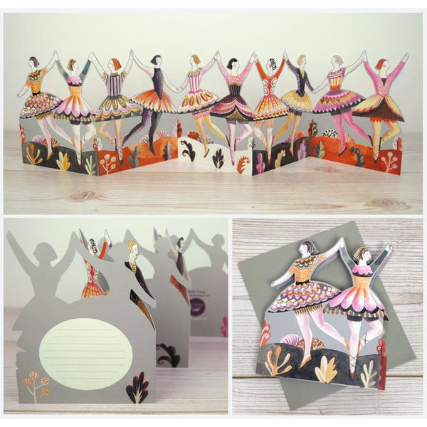 Chain of Dancing Ladies Die-Cut Card - Art Angels by Sarah Young
