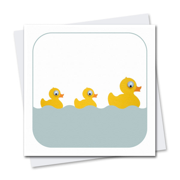 Daisy Ducks Greeting Card - Stripey Cats
