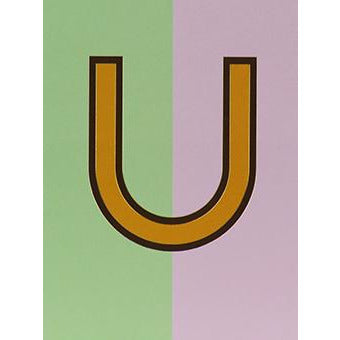 Nixie U Foiled Initial Card - Meraki