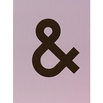 Nixie  Ampersand Foiled Initial Card - Meraki