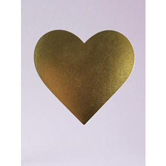 Nixie Heart Foiled Initial Card - Meraki