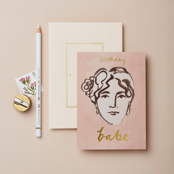 Birthday Babe Greeting Card - Wanderlust