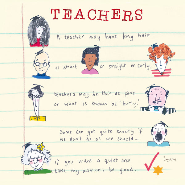 Teachers Greeting Card - Poet and Painter